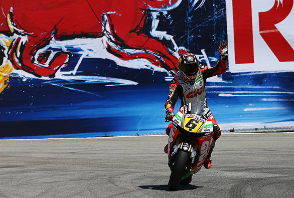 Stefan Bradl snatched pole from Marc Marquez, but that didn't stop the lightning quick 20-year-old from winning the race and extending his lead in the championship to 16 points