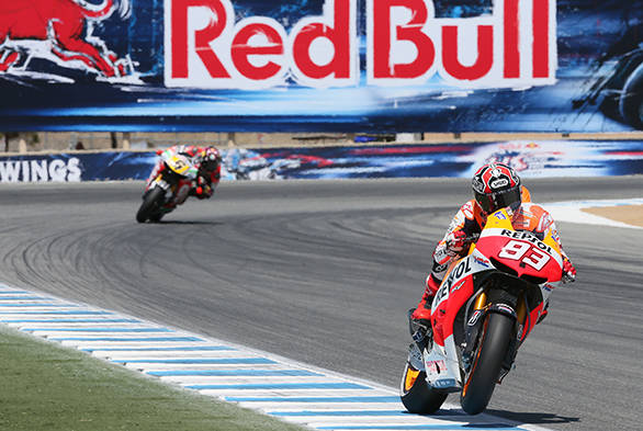 After getting past Rossi, Marc Marquez (No 83) managed to pass Bradl (No. 6) with relative ease