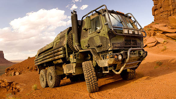 The medium utility military truck