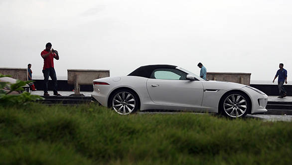 The F-Type's gorgeous design attracted a lot of attention