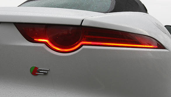 Sleek tail lamps makes the rear one of the nicest angles on the F-Type