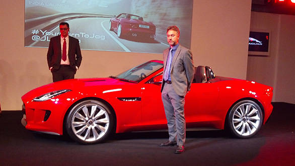 A clear view of the new Jaguar F-Type at launch in India