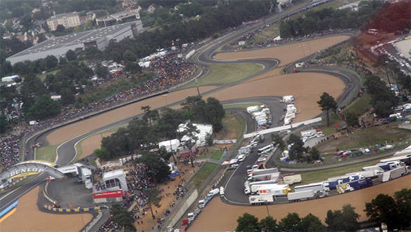 A bird's-eye view of Le Mans