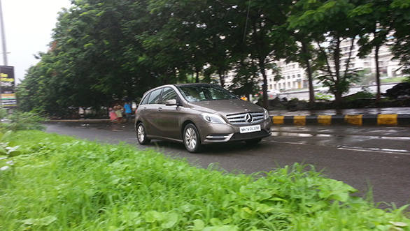 The engine drives the front wheels on the B-Class via a 7-speed dual clutch automatic