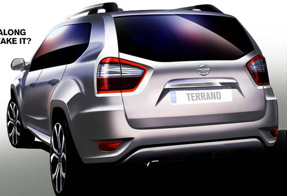 rear of new nissan terrano revealed in official sketch - overdrive