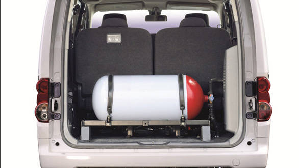 The CNG tank will compromise on the Stile's luggage space