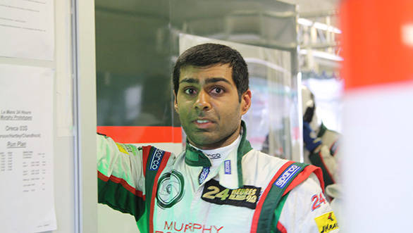Even after racing virtually the entire night, Chandhok looks fresh
