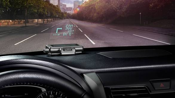 Garmin's new portable HUD projects directions onto car windshields