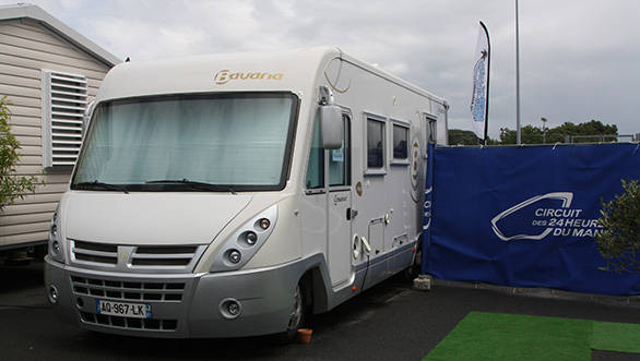 At the 2013 edition of the 24 Hours of Le Mans, Karun found himself living in this little campervan.