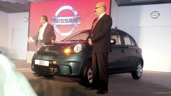 Nissan officials with the new Micra Active