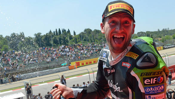 A double win at Imola means Sykes is now leading the WSBK championship