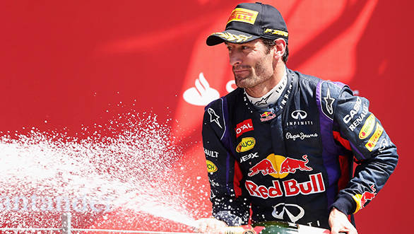 A second place is a nice way to start saying his good byes to F1 for Mark Webber
