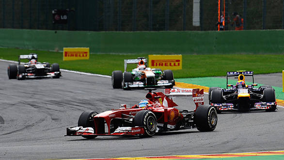 Alonso's valiant drive took him from ninth to second but it still wasn't good enough for his maiden win at Spa