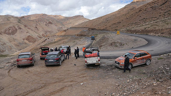 After many plans that usually involved flying expensive machinery to Leh were hatched, we carried on