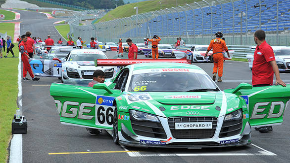 The cars that feature in this series are detuned versions of the GT3 R8 LMS Ultra (with a milder aero package)