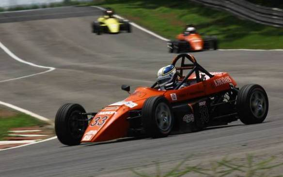 Deepak Chinappa took two wins of three races in the Formula Swift category