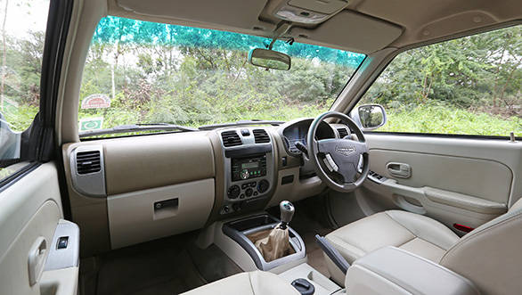 The LX's interior is identical to the SX trim,  as is the equipment on offer.