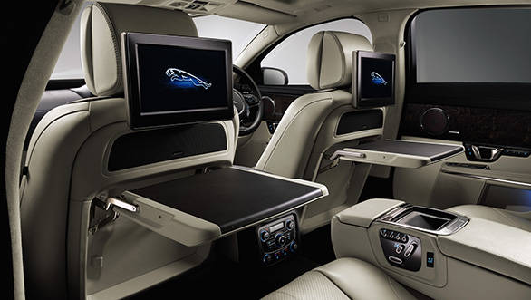 Inside, the 2014 XJ gets reclining seats in the rear, massage functions for seats, two 10.2