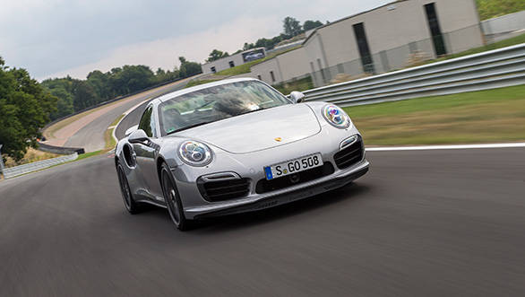 The Turbo S employs a rear wheel steering system