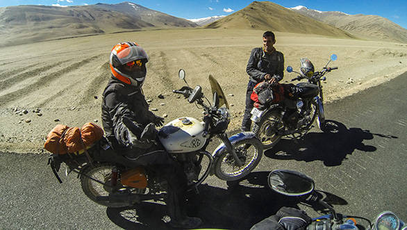 This year's ride had two routes. Both ended in Leh, but took different routes to get there