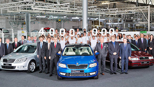 Octavia comprises around 38 per cent of Skoda's total sales since 1996