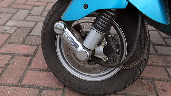 The Vespa now comes to a halt from 60kmph in a mere 2.1 seconds within just 18.6m