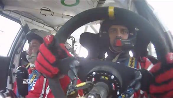 Gaurav Gill with his navigator Glenn MacNeal