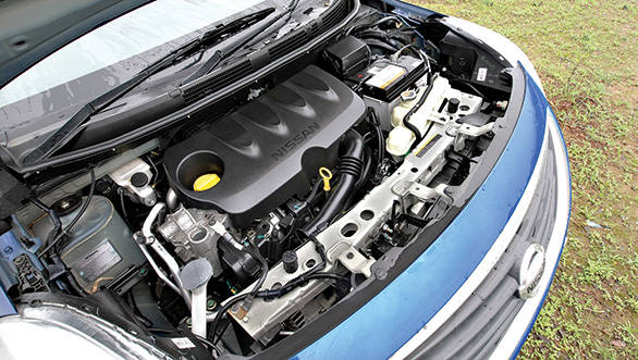The 1.5-litre petrol motor makes 99PS and 134Nm in the Nissan Sunny