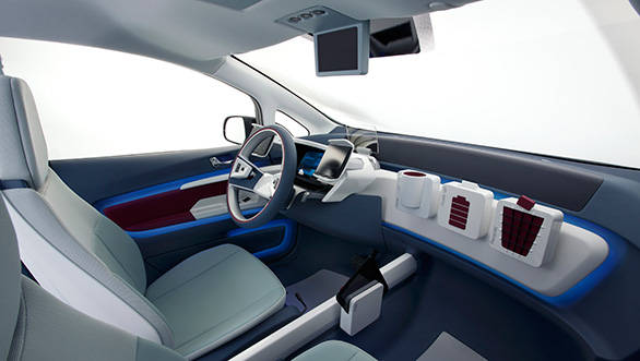 The dashboard is nothing but a rail-like panel on which you can add clip-ons to customise your car