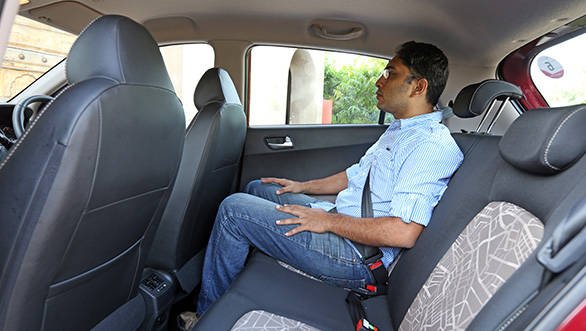 The rear seats have large and comfortable squabs too and the fixed seat back angle is well thought out as well