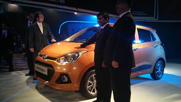Hyundai officials with the new Grand i10