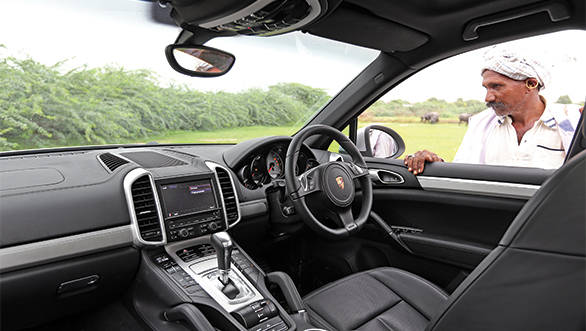 Gorgeous Panamera inspired interiors are luxurious but features like the grab rails remind you of the SUV intent