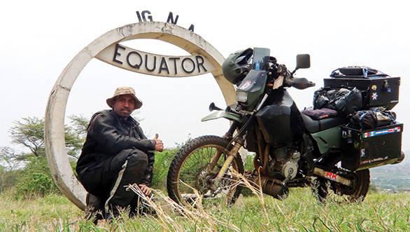 Jay Kannaiyan's ride around the world on a motorcycle