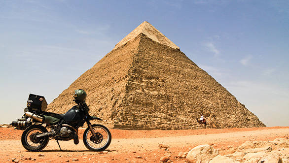Egypt in a nutshell – the Great Pyramid and a man on a camel