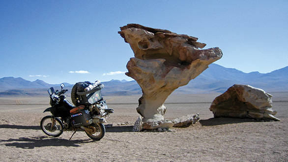 The Arbol de Piedra (Tree of Stone) at 15,000ft in the Bolivian Andes . 890km to Khartoum, the capital of Sudan