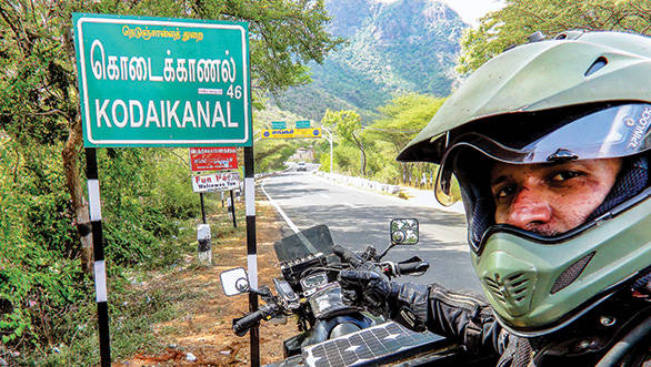 Starting in South India and riding upwards