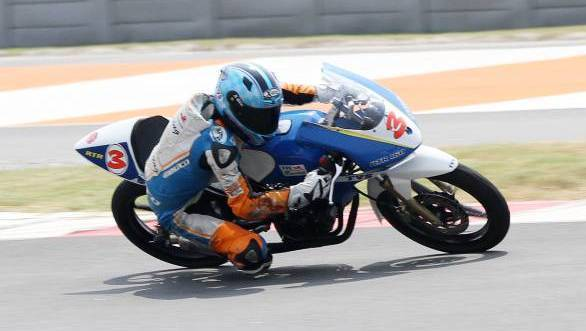 K Jagan took two wins of two races in the Group C 165cc Experts class