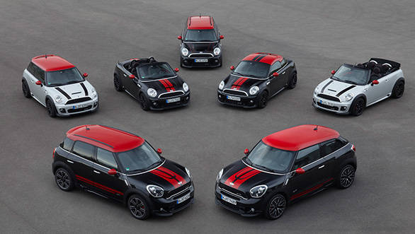 The entire Mini range which was displayed at Frankfurt