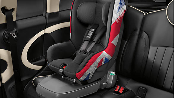 The new child seats, Mini says, provide greater safety and comfort for kids