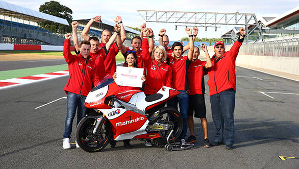 The Mahindra Racing team with the MGP30