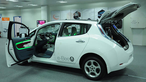The e-Bee Concept uses the Nissan Leaf as a donor car