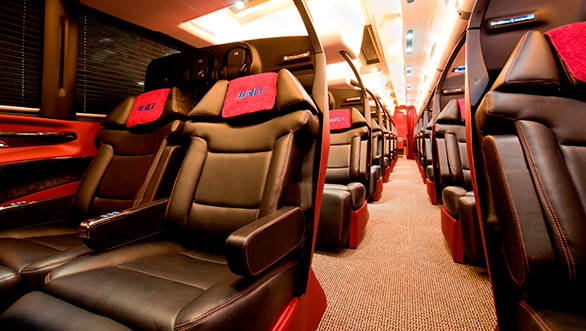The '7 star' luxury passenger bus has been designed by Dilip Chhabria, founder of DC Design