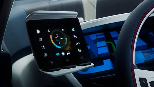 Tablets behind the steering wheel can be customised according to your like... like your extended smartphone