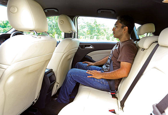 Rear seats can accommodate three passengers in comfort