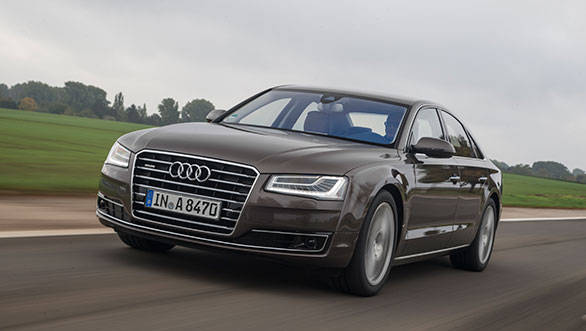 Besides the new headlamps, the A8 sees bigger air dams and tweaked bumpers