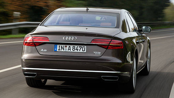 Sleeker lamps, a revised bumper and new trapezoidal exhausts outline the changes at the rear