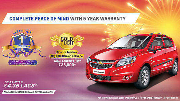 The Chevrolet Sail U-VA now comes with a 5-year warranty