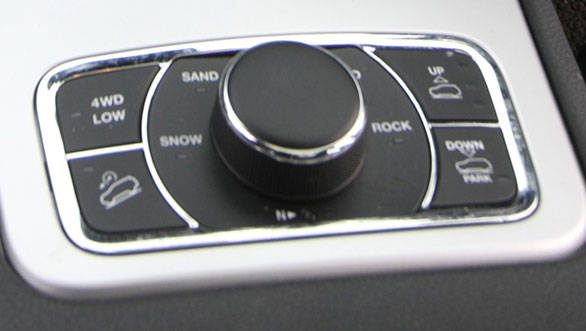 Range Rover style rotary off-road control. Interiors look great and are well built but feel a little plasticky in areas
