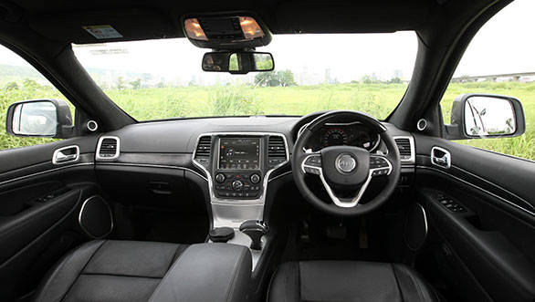 The interiors of the Jeep Grand Cherokee