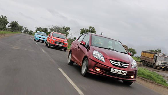 Mumbai to Kolkata: 2013 EcoSport vs Amaze vs Enjoy vs Verito Vibe